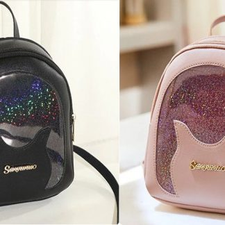 Holographic Panel Mini-Backpack with Earphone Access