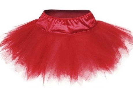 Red Satin Corset & Tutu Set