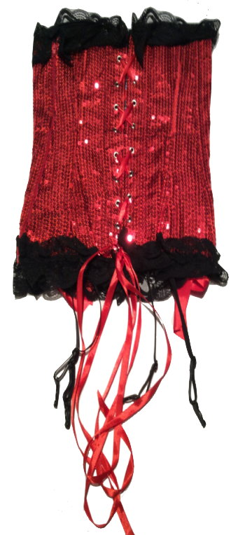 Red Sequined Corset