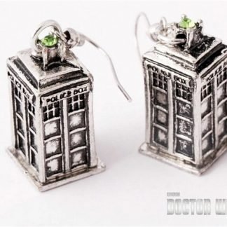 Doctor Who Silver Tardis Dangle Earrings