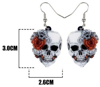Skull and Roses Earrings