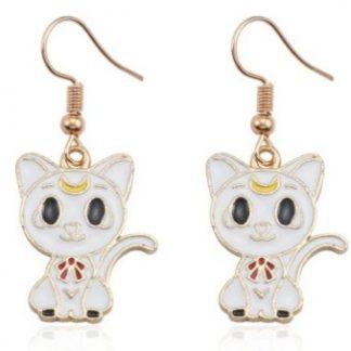 Anime Sailor Moon Artemis Dangle Earrings
