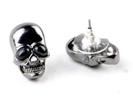 Skull Metallic Stud Earrings