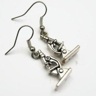 Microscope Charm Dangle Earrings
