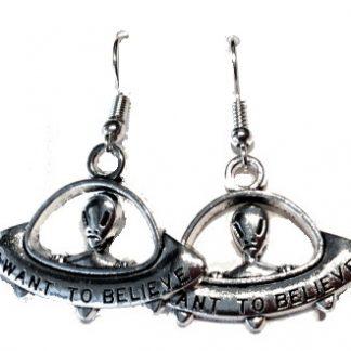Aliens I Want To Believe Dangle Earrings