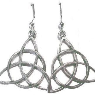 Charmed Triquetra Dangle Earrings - Large