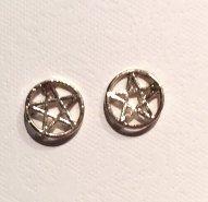 Pentagram Stud Earrings - Gold