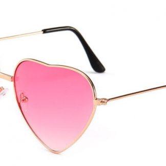 Heart Shapes Sunglasses - Pink