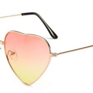 Heart Shapes Sunglasses - Pink & Yellow Gradient
