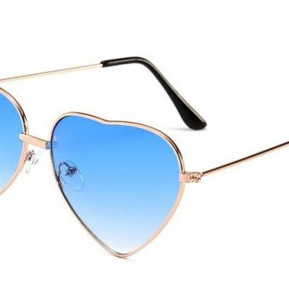 Heart Shapes Sunglasses - Blue