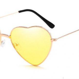 Heart Shapes Sunglasses - Yellow