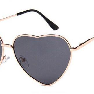 Heart Shapes Sunglasses - Dark Gray