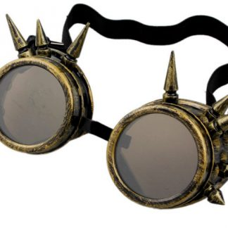 Goggles - Spiked Antique Brass