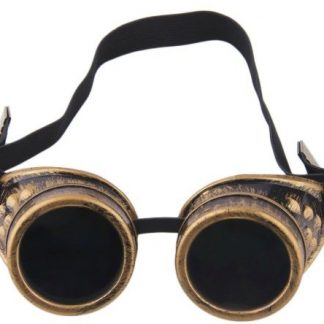 Goggles - Antique Brass Flexible Style