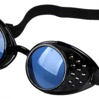 Goggles - Black with Blue Lenses