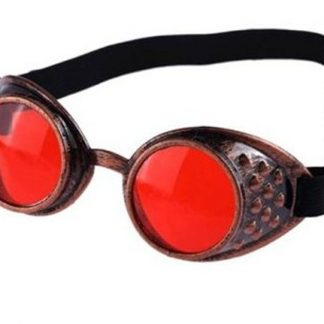Goggles - Antique Copper with Red Lenses