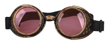 Goggles - Antique Copper with Pale Pink Lenses
