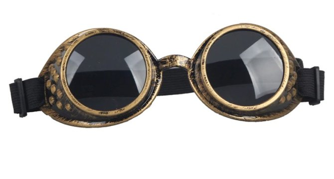 Goggles - Antique Copper with Grey Lenses