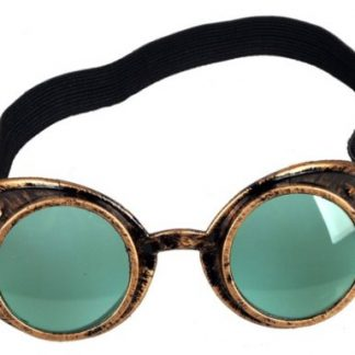 Goggles - Antique Copper with Pale Green Lenses