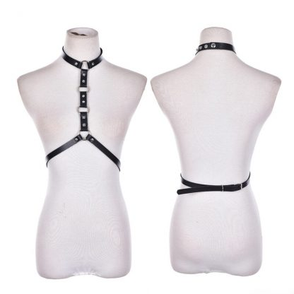PU Leather Chest Harness