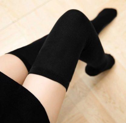 Over The Knee Long Socks -Black