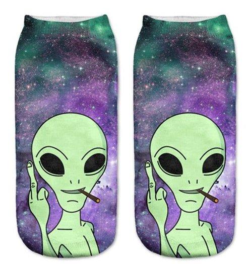 Naughty Alien Ladies Ankle Socks