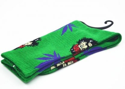 Cheech & Chong 420 Marijuana Crew Socks Green