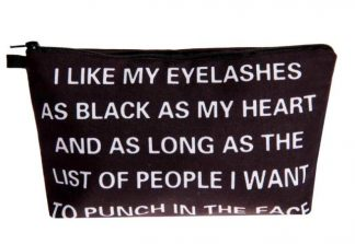 Black As My Heart Make Up Bag