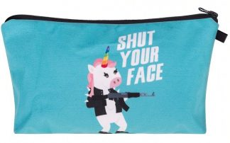 Shut Your Face Unicorn Make Up Bag