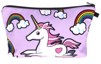 Unicorns & Rainbows Make Up Bag