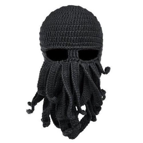 Cthulhu Crochet Ski Mask - Black