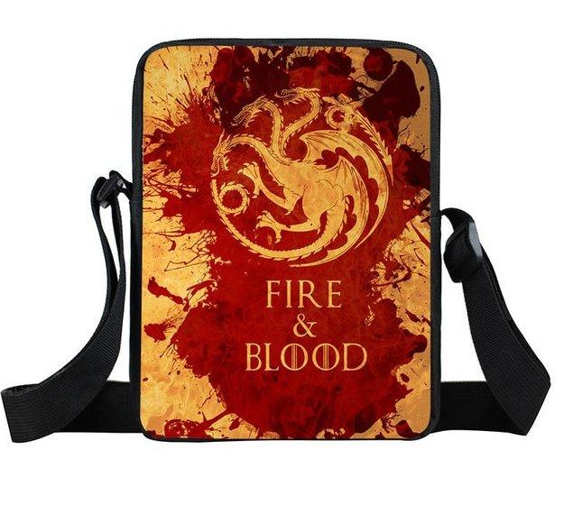 Game of Thrones House Targaryen Mini Messenger Bag #3