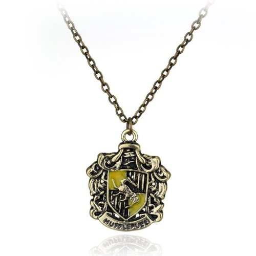 Harry Potter Hufflepuff Crest Necklace
