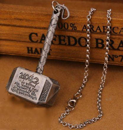 Thor's Hammer Mjölnir Necklace - Antique Silver