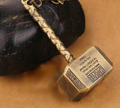 Thor's Hammer Mjölnir Necklace - Antique Gold