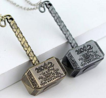 Thor's Hammer Mjölnir Necklace - Antique Silver or Antique Gold