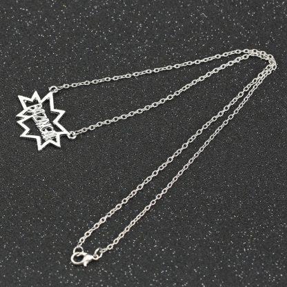 Big Bang Theory Bazinga Necklace - Silver