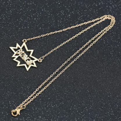 Big Bang Theory Bazinga Necklace - Gold