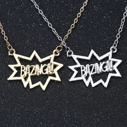 Big Bang Theory Bazinga Necklace - Gold or Silver