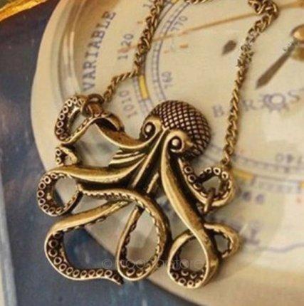 Vintage Steampunk Octopus Necklace