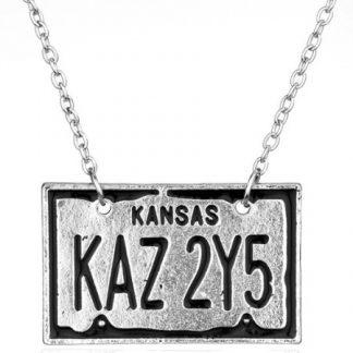 Supernatural Kansas Licence Plate Necklace