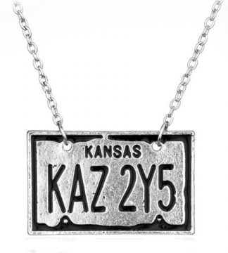 Supernatural Kansas Licence Plate Necklace
