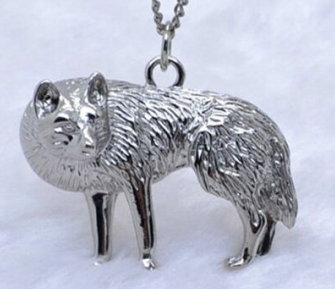 Game of Thrones Direwolf Necklace - Antique Silver