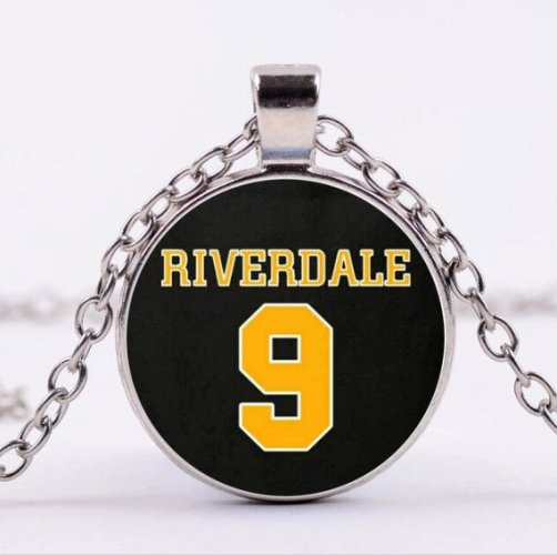 Riverdale Archie's Football Jersey 9 Cabochon Necklace