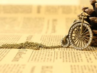 Vintage Steampunk Penny Farthing Necklace