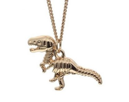 Tiny T-Rex Necklace - Gold