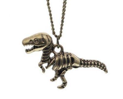 Tiny T-Rex Necklace - Bronze