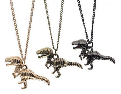 Tiny T-Rex Necklace - Gold, Bronze or Gunmetal