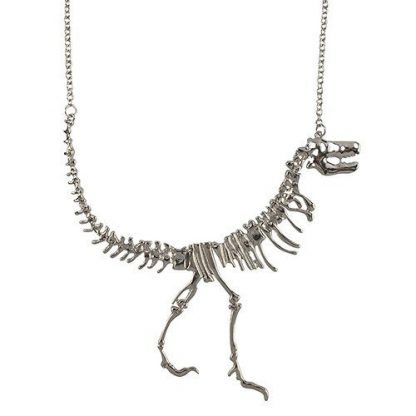 Dinosaur Fossil T-Rex Necklace - Silver