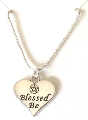Blessed Be Heart Charm Necklace
